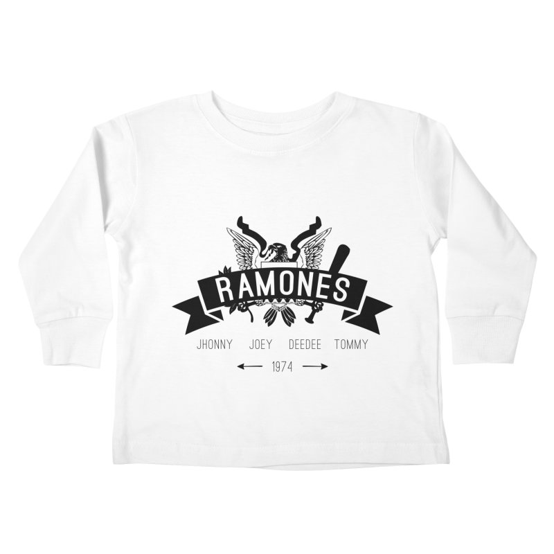 RAMONES HIPSTERIZED Kids Toddler Longsleeve T-Shirt by Alter Clothing