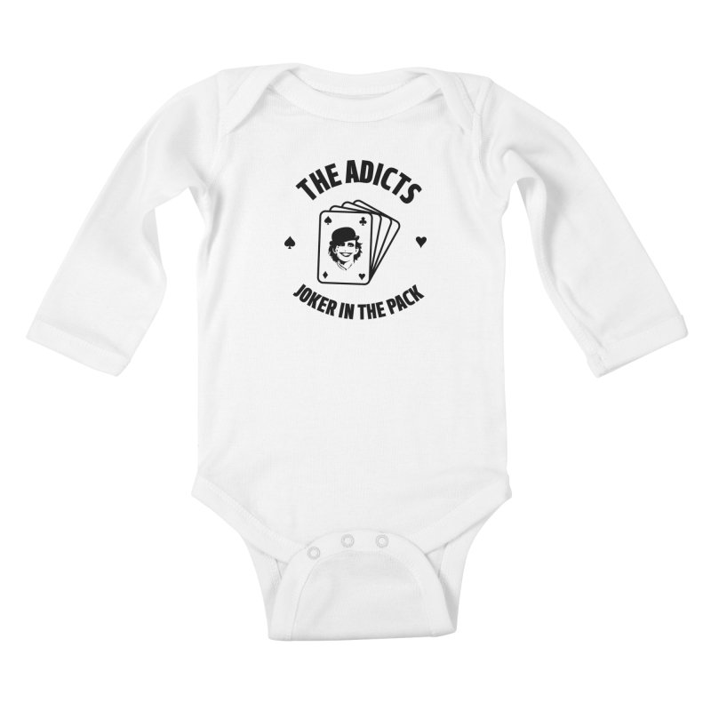 The Adicts - Joker in the pack Kids Baby Longsleeve Bodysuit by Alter Clothing