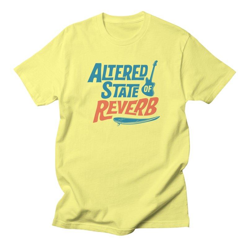 Altered State of Reverb T-Shirt Vintage Surf / Color Logo Men's T-Shirt by Altered State of Reverb Artist Shop