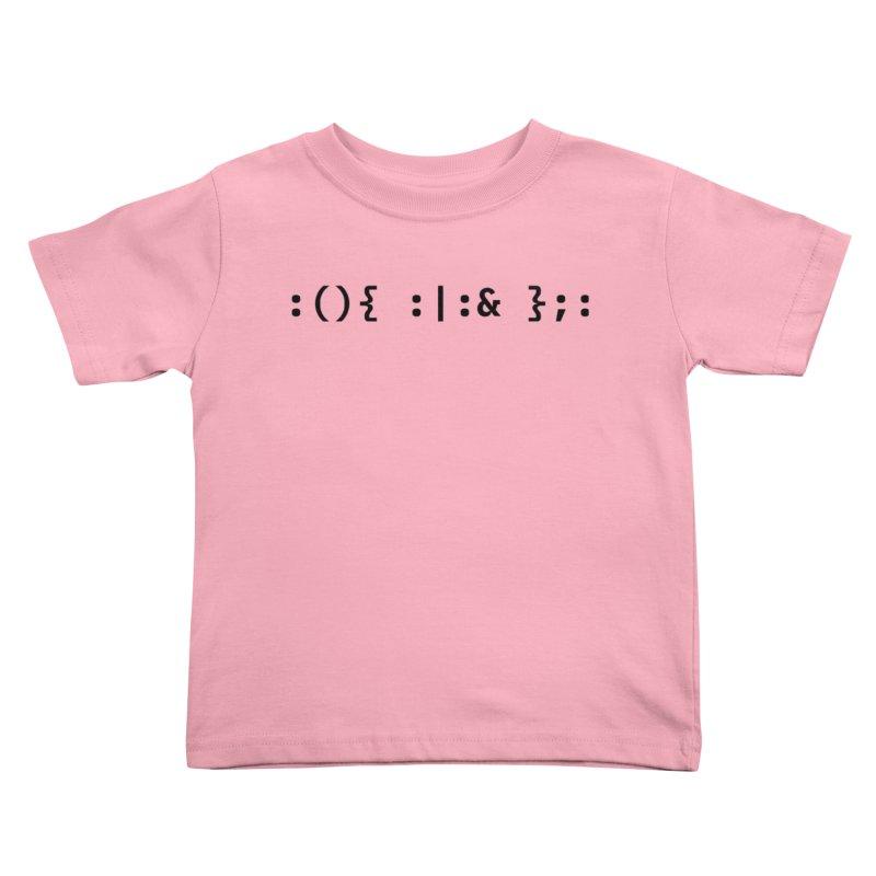 Fork Bomb Kids Toddler T-Shirt by ALTNEU's Artist Shop