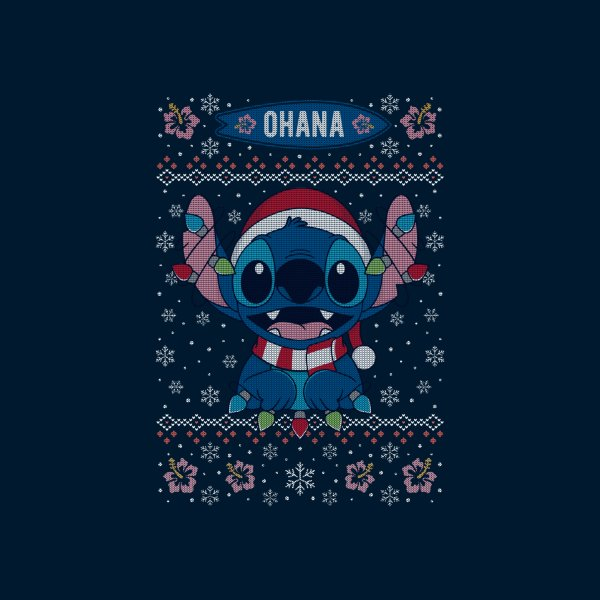 Design for Stitch Ohana Christmas