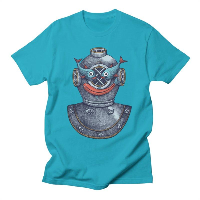 A happy travel under the sea Men's T-Shirt by alvarejo's Shop