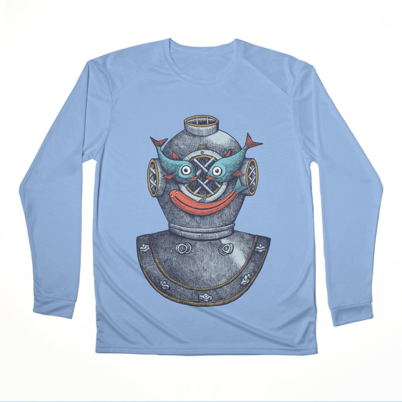 A happy travel under the sea Women's Longsleeve T-Shirt by alvarejo's Shop