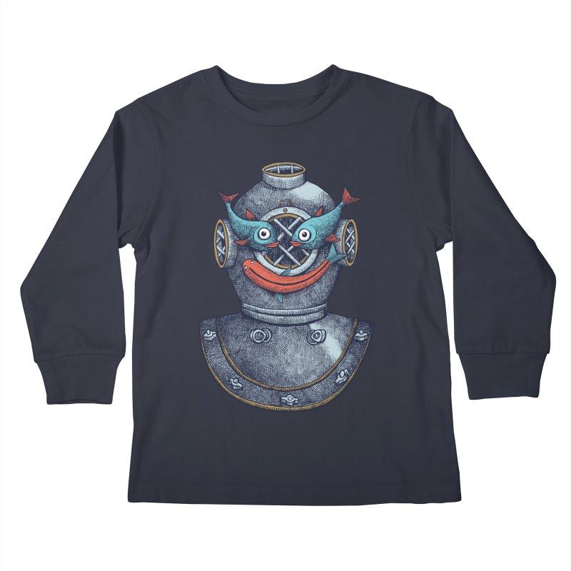 A happy travel under the sea Kids Longsleeve T-Shirt by alvarejo's Shop