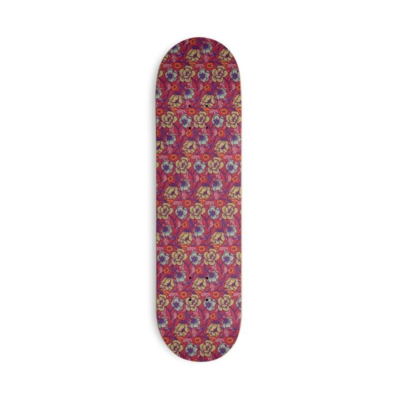Colorful Spring Accessories Skateboard by alvarejo's Shop