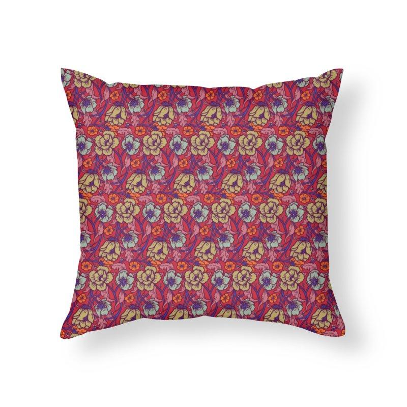 Colorful Spring Home Throw Pillow by alvarejo's Shop
