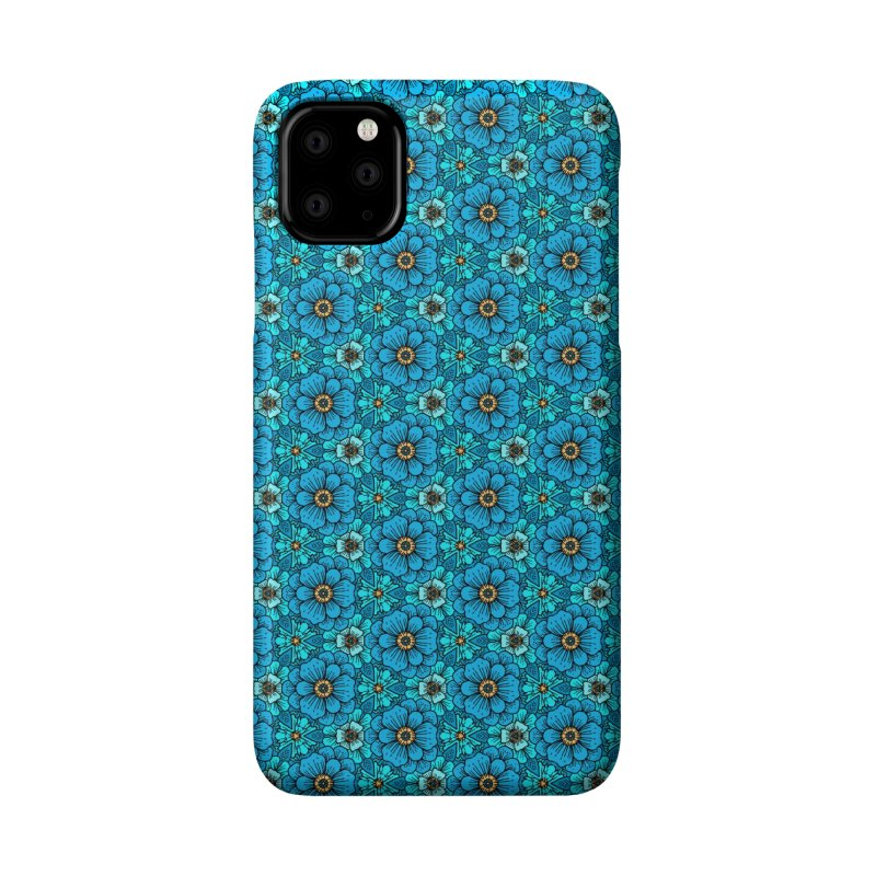 Blue Flowers Accessories Phone Case by alvarejo's Shop