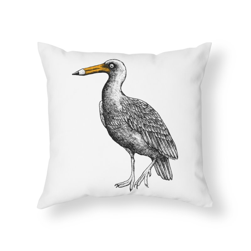 Dra-wing Home Throw Pillow by alvarejo's Shop