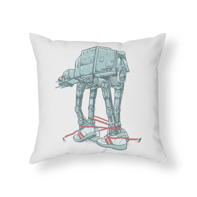 AT - A TIE Home Throw Pillow by alvarejo's Shop