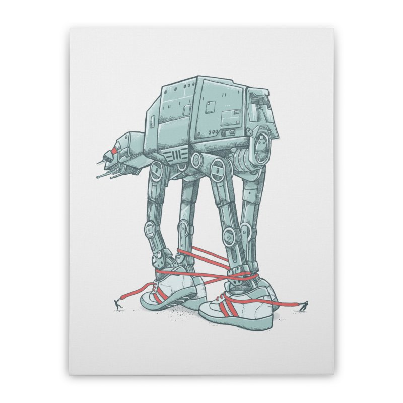 AT - A TIE Home Stretched Canvas by alvarejo's Shop