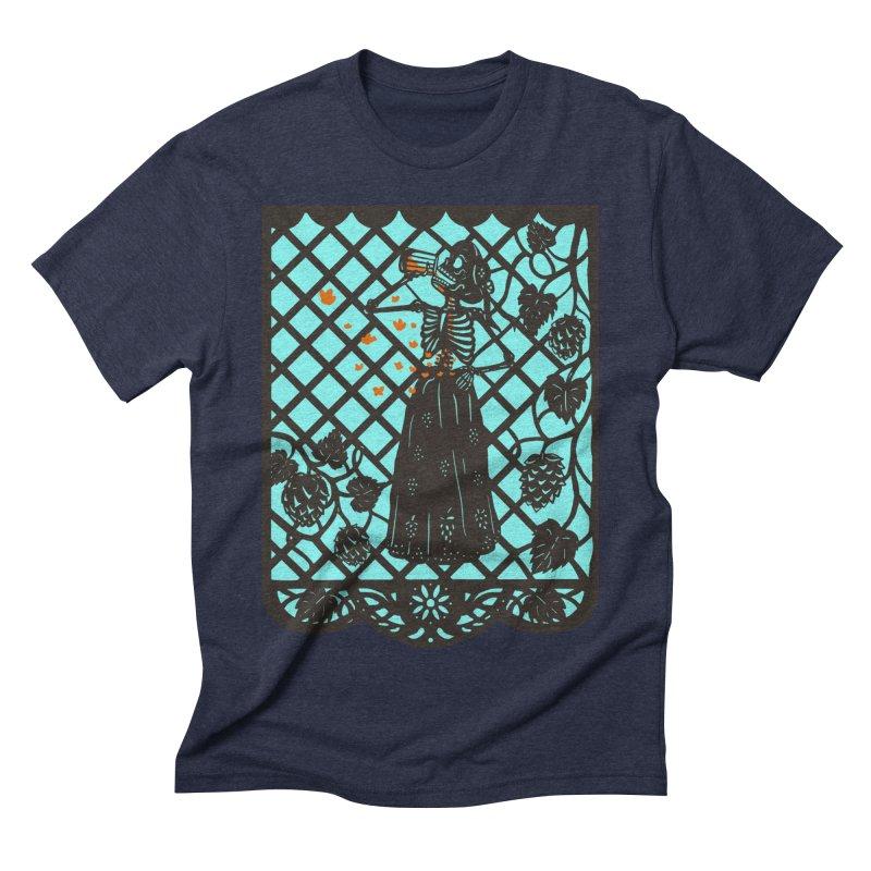 Beer Calavera Men's T-Shirt by Alynn Guerra Artist Shop