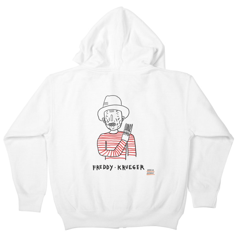Freddy Krueger Kids Zip-Up Hoody by Amalia Andrade