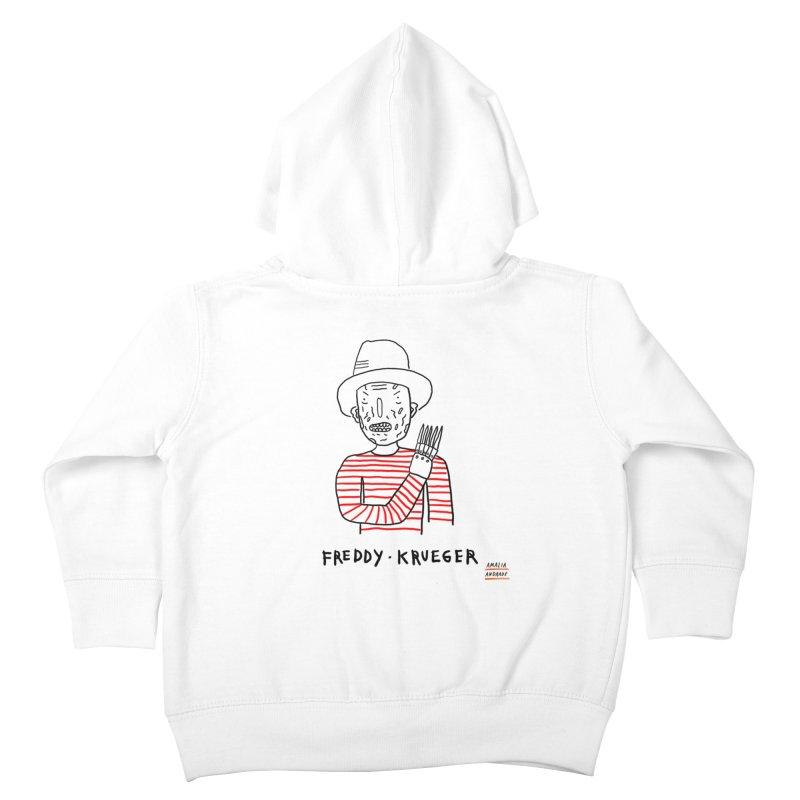 Freddy Krueger Kids Toddler Zip-Up Hoody by Amalia Andrade