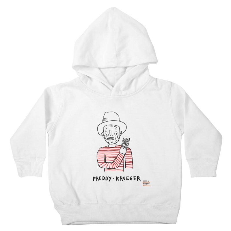 Freddy Krueger Kids Toddler Pullover Hoody by Amalia Andrade