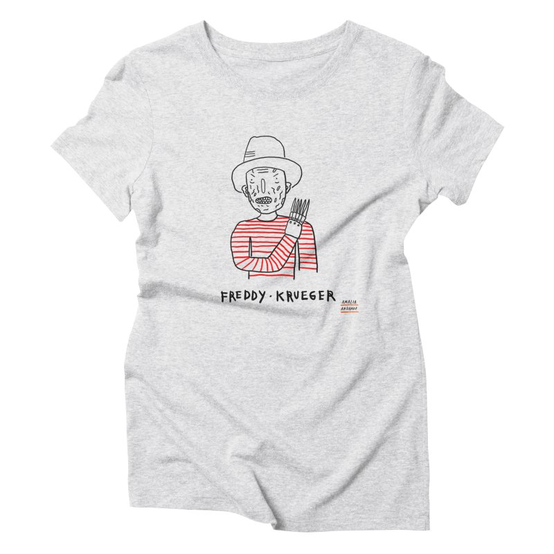 Freddy Krueger Women's Triblend T-shirt by Amalia Andrade