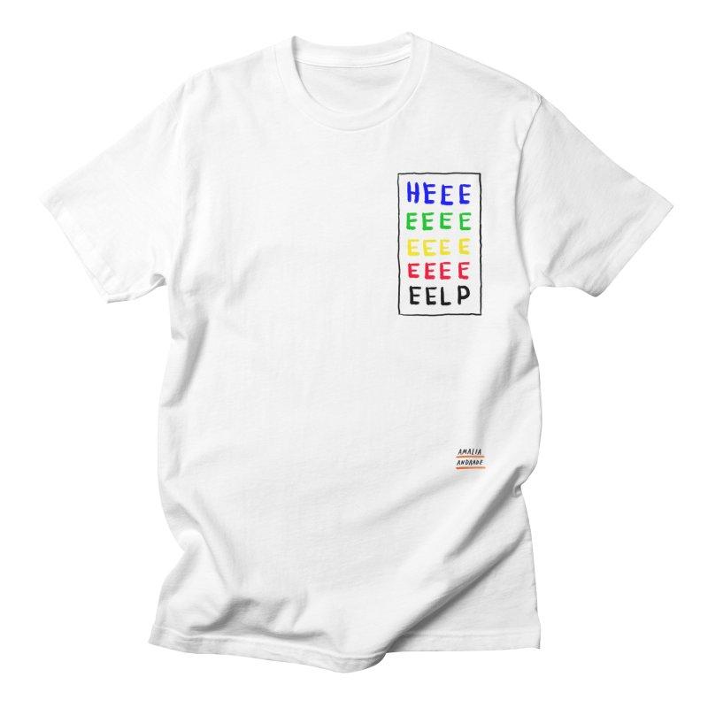 HEEEEEEEELP Men's T-Shirt by Amalia Andrade