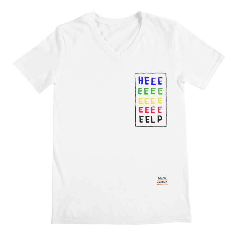 HEEEEEEEELP Men's V-Neck by Amalia Andrade