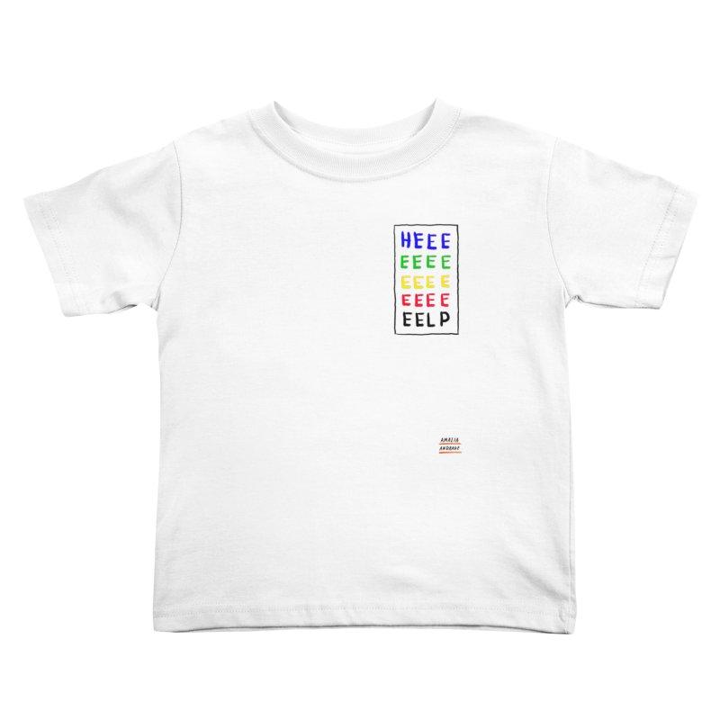 HEEEEEEEELP Kids Toddler T-Shirt by Amalia Andrade