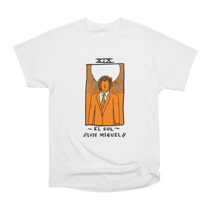 El Sol // Luis Miguel // Men's Heavyweight T-Shirt by Amalia Andrade