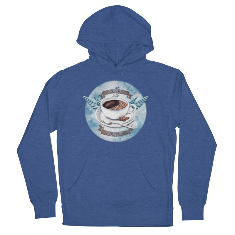 Coffee to the rescue! Men's Pullover Hoody by amandadilworth's Artist Shop