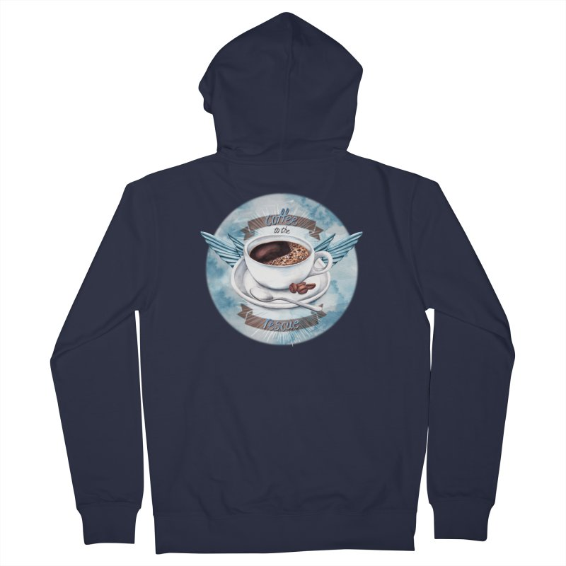 Coffee to the rescue! Women's Zip-Up Hoody by amandadilworth's Artist Shop