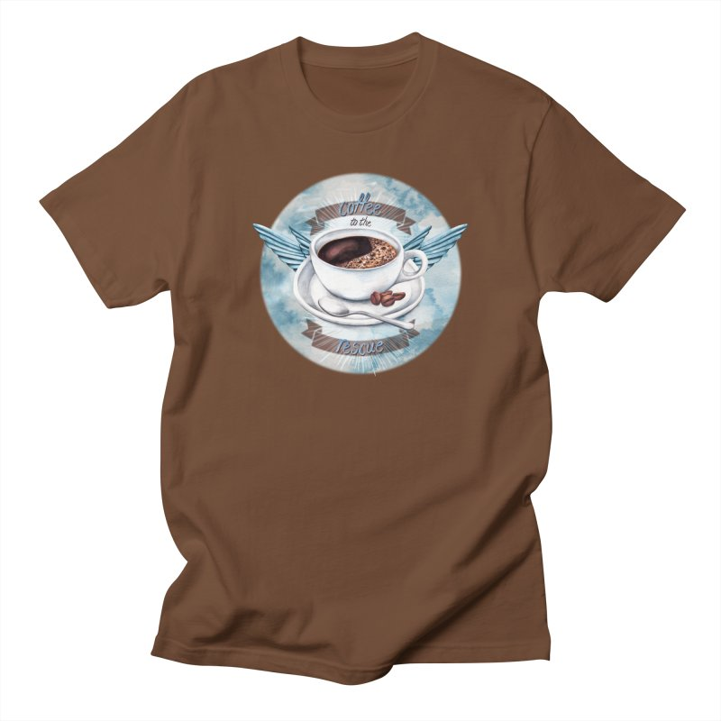 Coffee to the rescue! Men's T-shirt by amandadilworth's Artist Shop