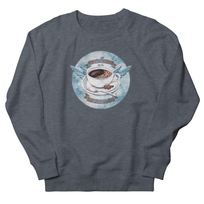 Coffee to the rescue! Men's Sweatshirt by amandadilworth's Artist Shop