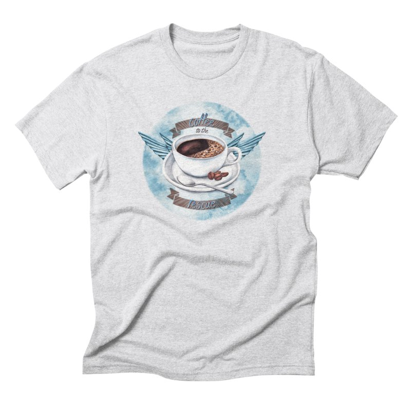 Coffee to the rescue! Men's Triblend T-Shirt by amandadilworth's Artist Shop