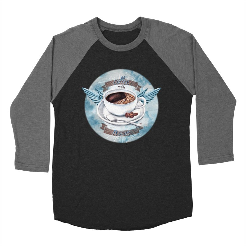 Coffee to the rescue! Men's Baseball Triblend T-Shirt by amandadilworth's Artist Shop
