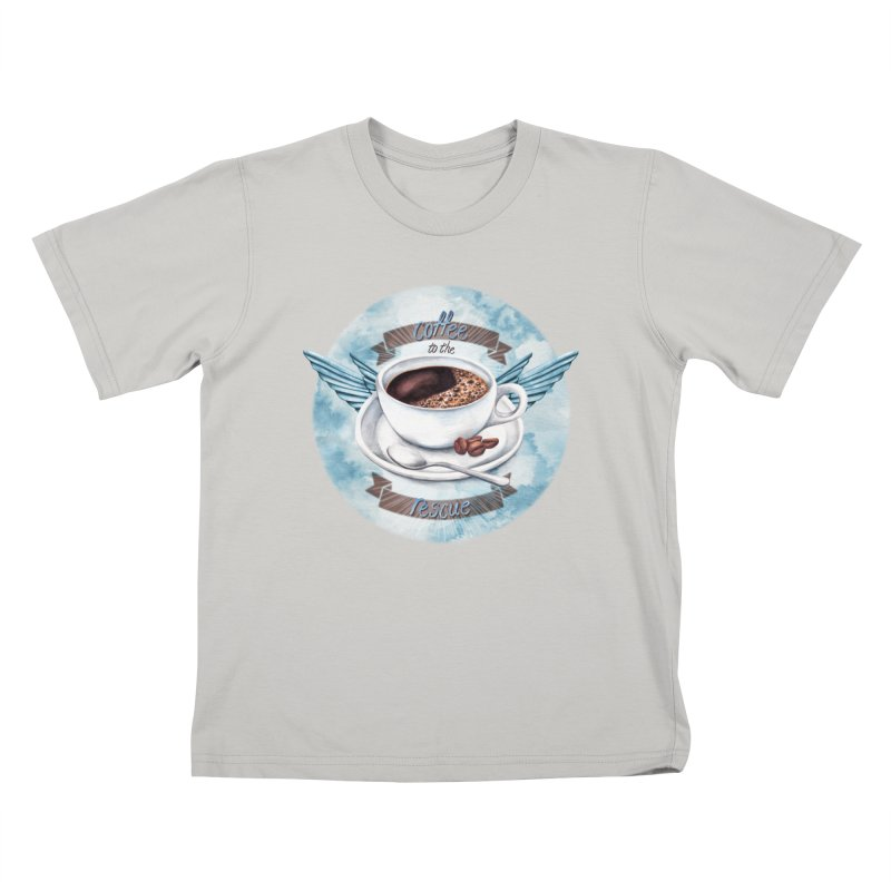 Coffee to the rescue! Kids T-shirt by amandadilworth's Artist Shop