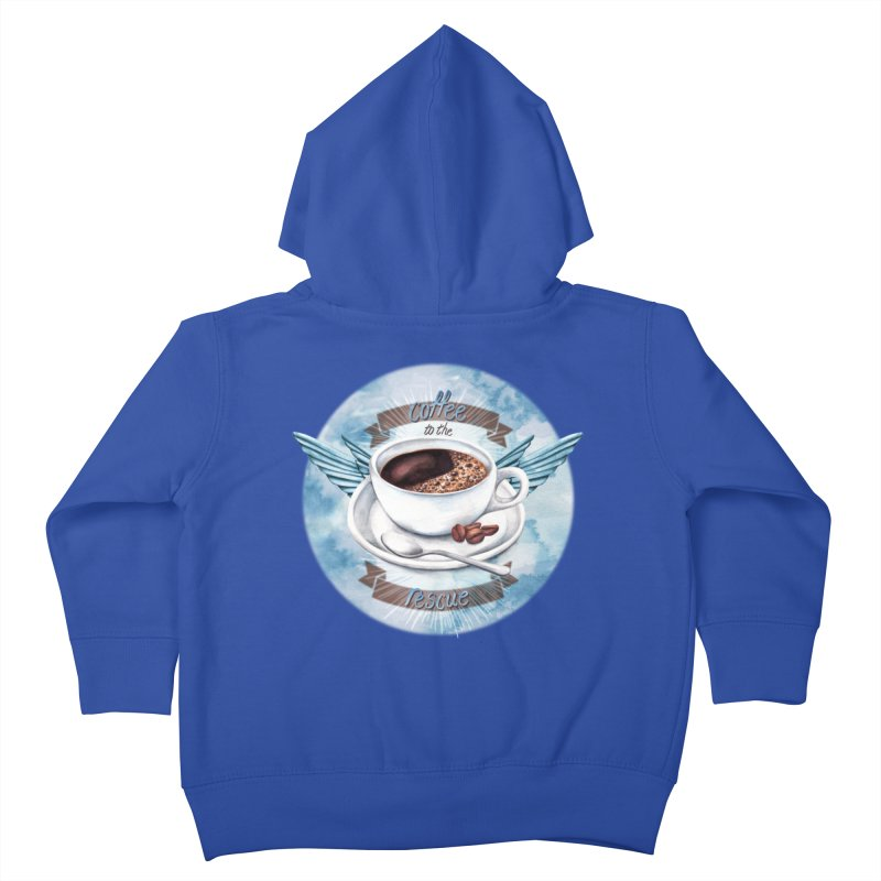 Coffee to the rescue! Kids Toddler Zip-Up Hoody by amandadilworth's Artist Shop
