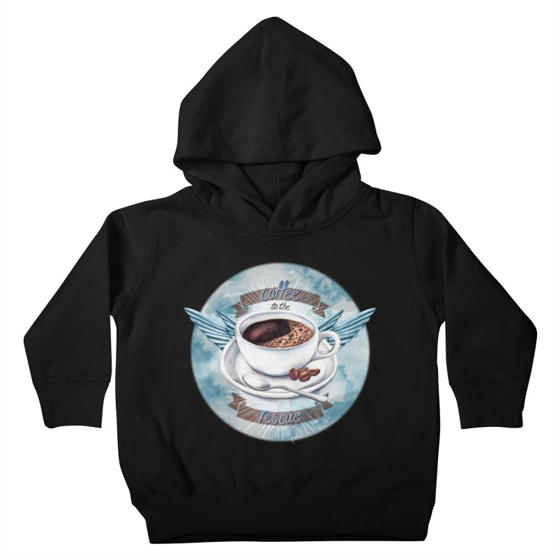 Coffee to the rescue! Kids Toddler Pullover Hoody by amandadilworth's Artist Shop