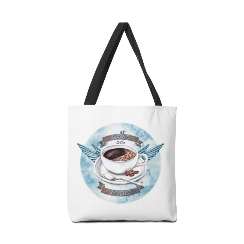 Coffee to the rescue! Accessories Bag by amandadilworth's Artist Shop