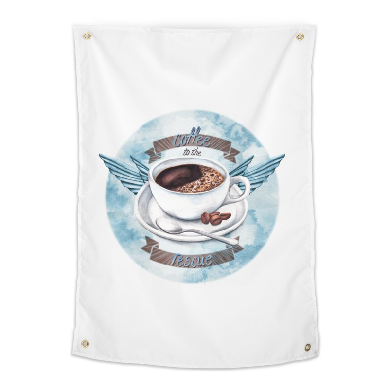 Coffee to the rescue! Home Tapestry by amandadilworth's Artist Shop