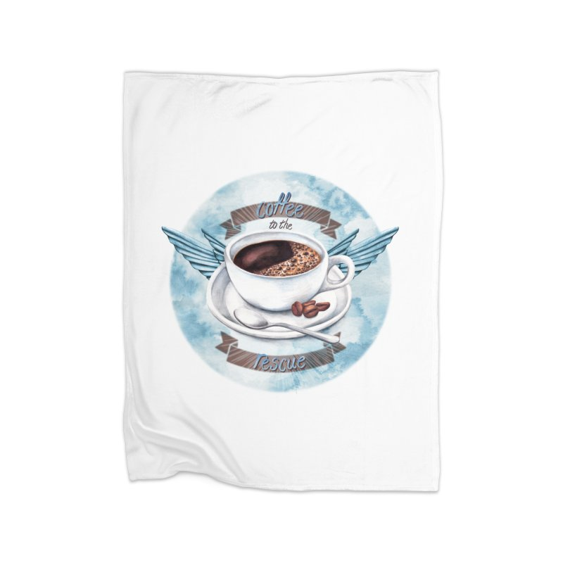 Coffee to the rescue! Home Blanket by amandadilworth's Artist Shop