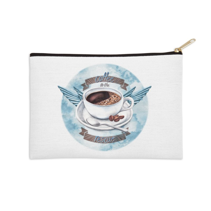Coffee to the rescue! Accessories Zip Pouch by amandadilworth's Artist Shop