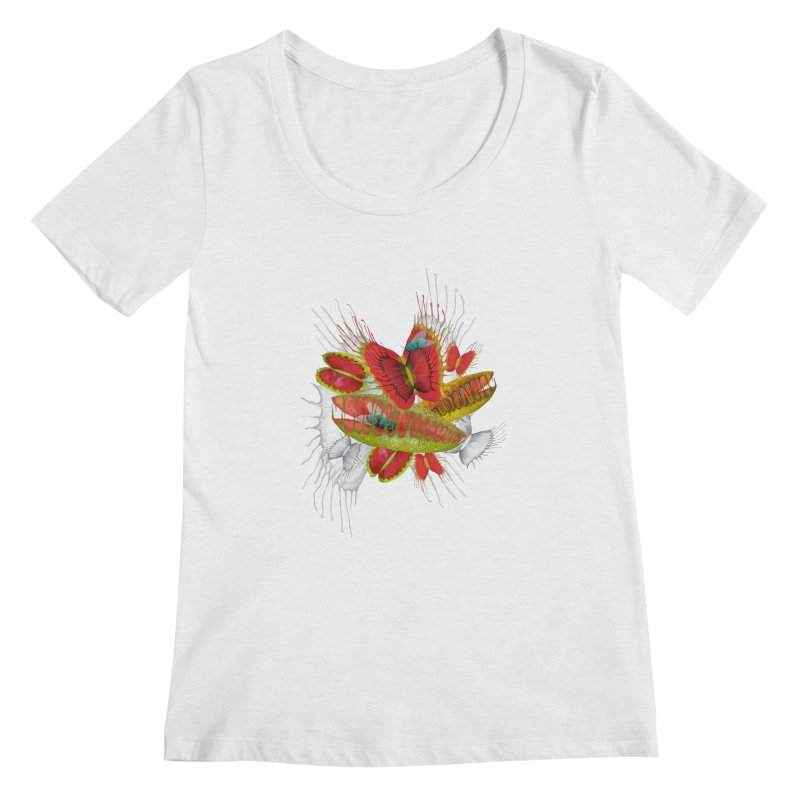 Beautiful And Deadly Women's Scoopneck by amandadilworth's Artist Shop