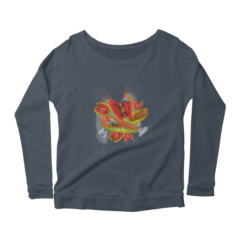 Beautiful And Deadly Women's Longsleeve Scoopneck  by amandadilworth's Artist Shop