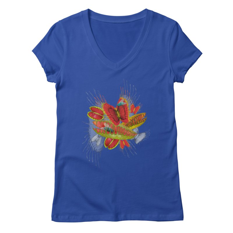 Beautiful And Deadly Women's V-Neck by amandadilworth's Artist Shop