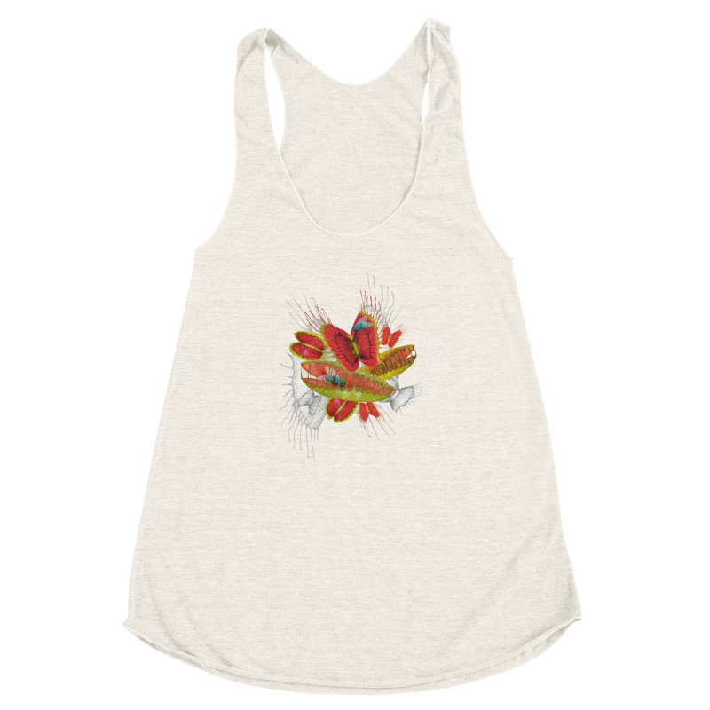 Beautiful And Deadly Women's Racerback Triblend Tank by amandadilworth's Artist Shop