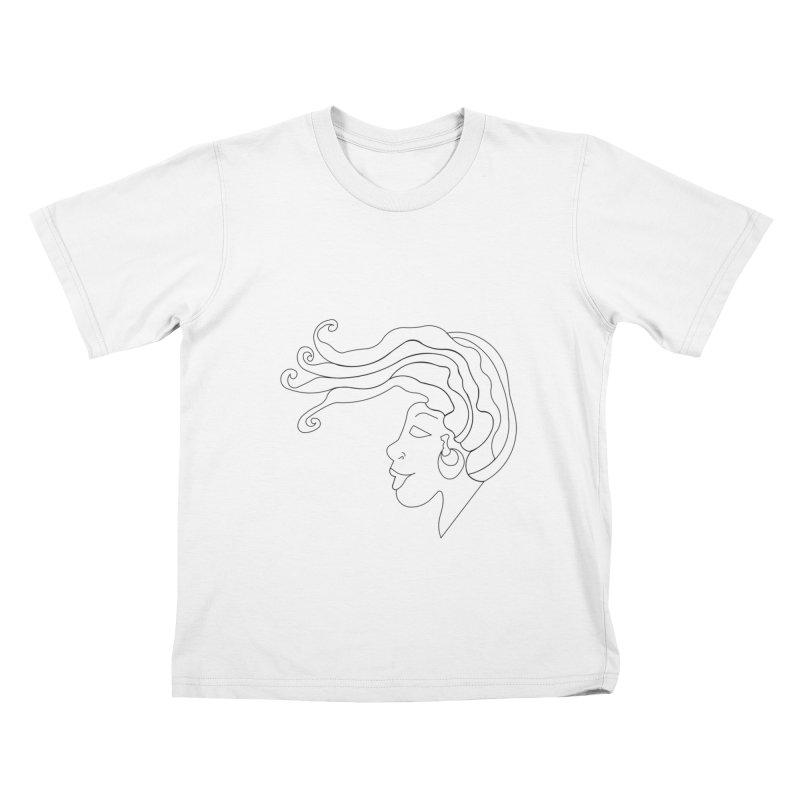 Loc'd In (BLACK INK) Kids T-Shirt by Amanda Seales