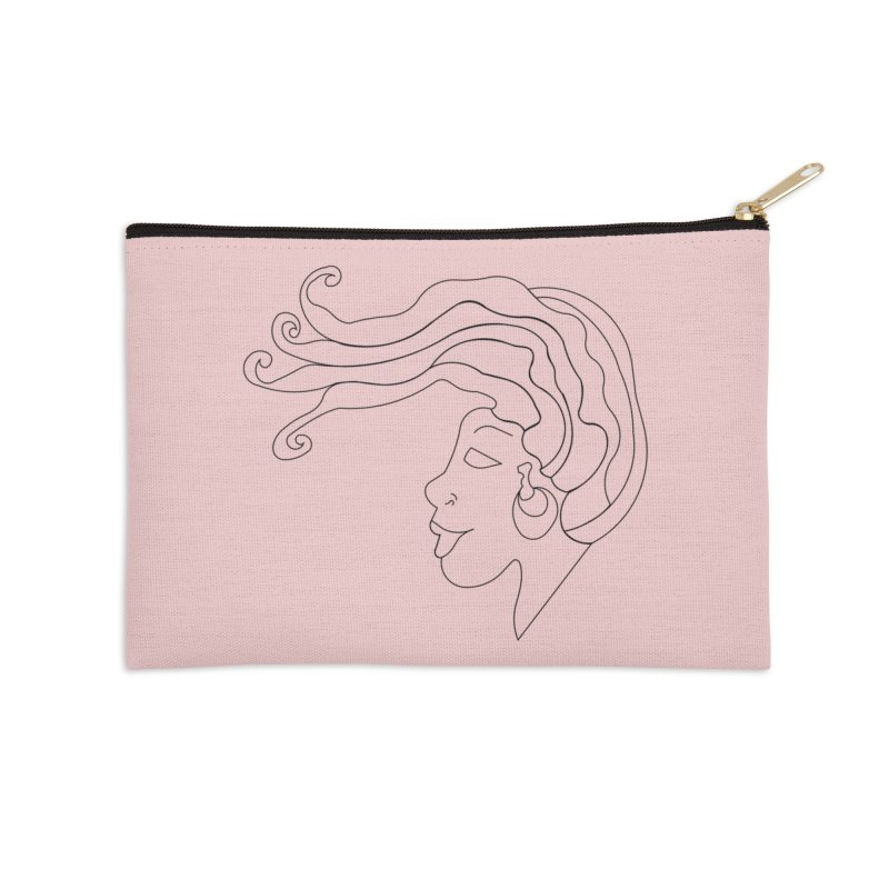 Loc'd In (BLACK INK) Accessories Zip Pouch by Amanda Seales