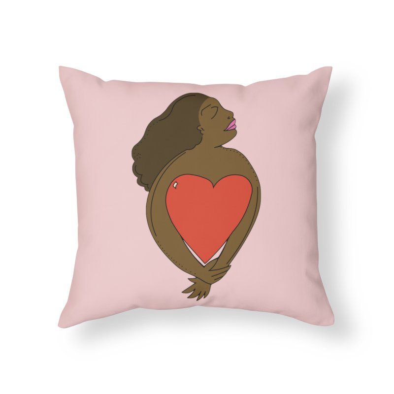 SELF-CARE Home Throw Pillow by Amanda Seales