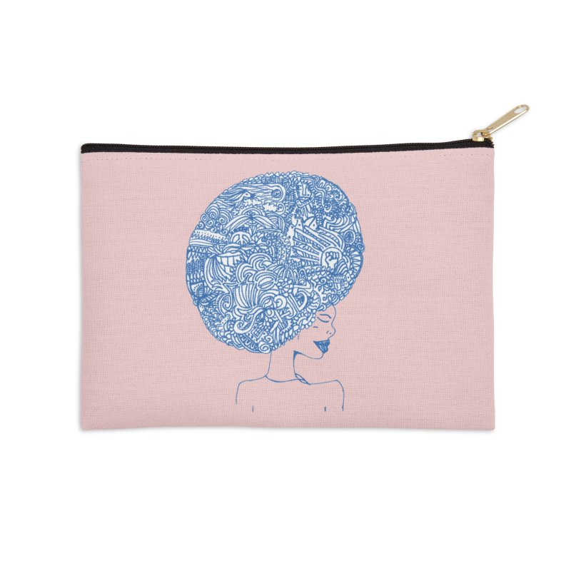 AFRO SERIES Accessories Zip Pouch by Amanda Seales
