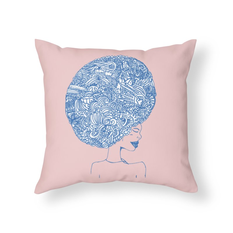 AFRO SERIES Home Throw Pillow by Amanda Seales