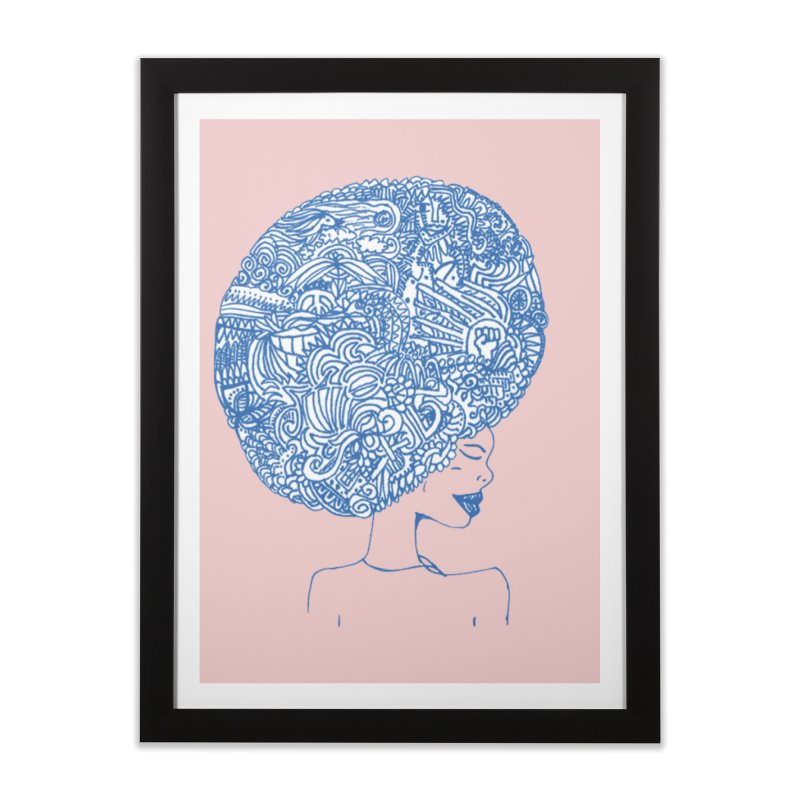 AFRO SERIES Home Framed Fine Art Print by Amanda Seales