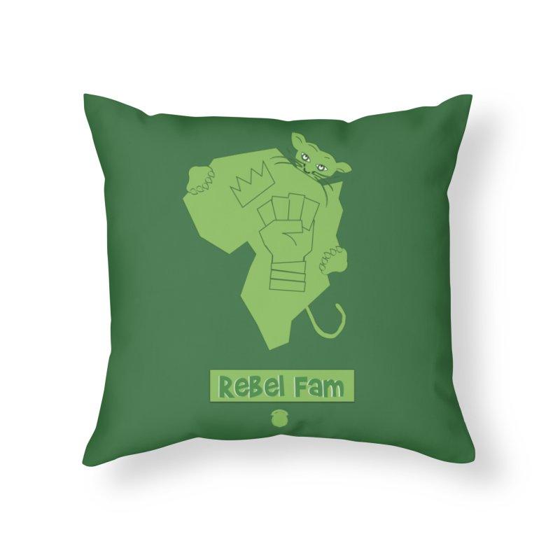 Rebel Fam Home Throw Pillow by Amanda Seales