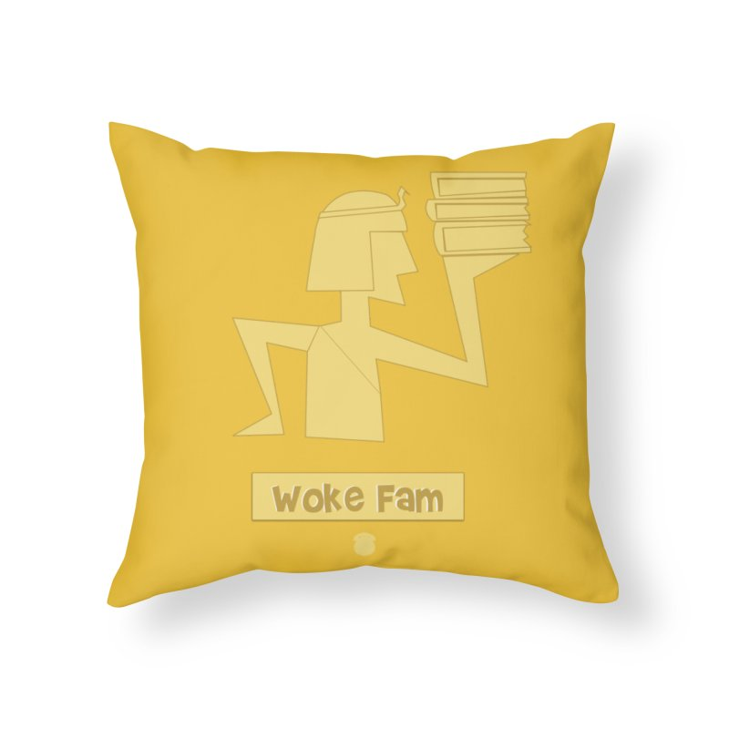 WOKE FAM Home Throw Pillow by Amanda Seales