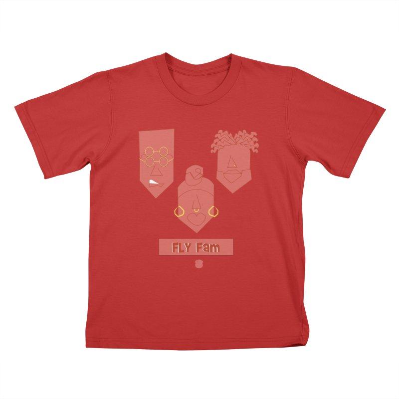 FLY FAM Kids T-Shirt by Amanda Seales