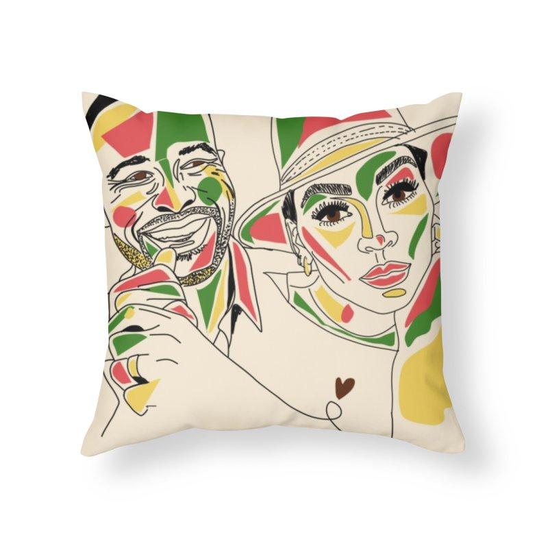 Devon & Meagan Home Throw Pillow by Amanda Seales
